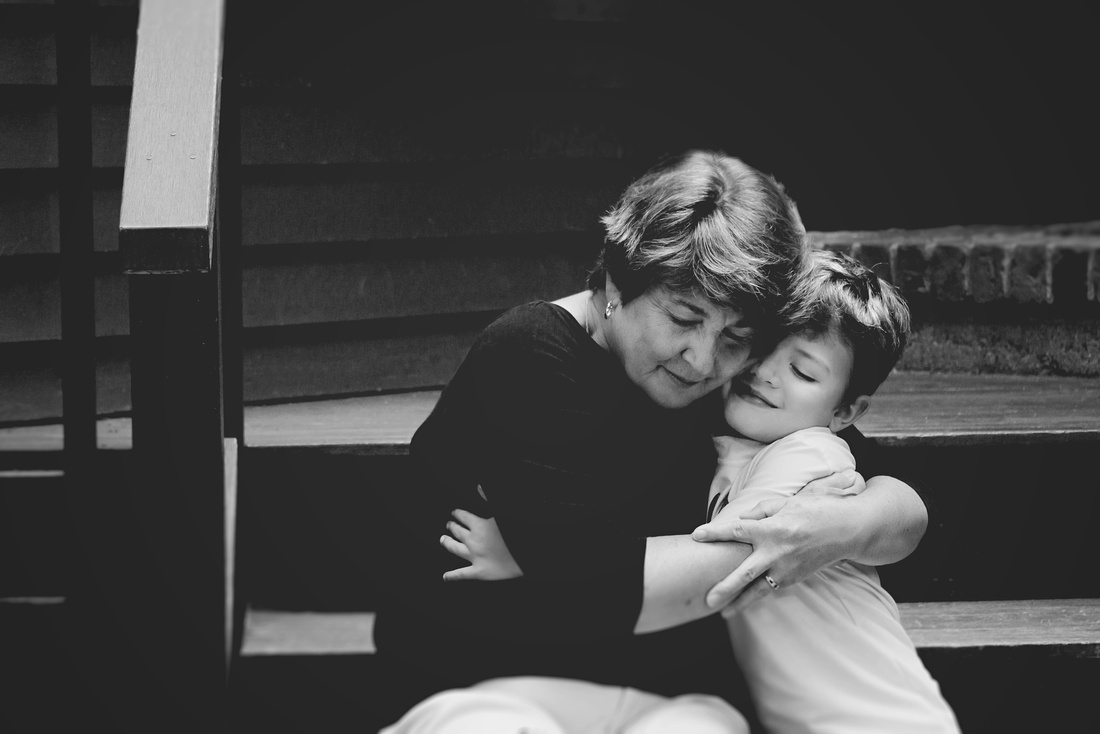 Grandma - Grandson hug | Emotional Portrait {Natick - Amherst Family Photographer}
